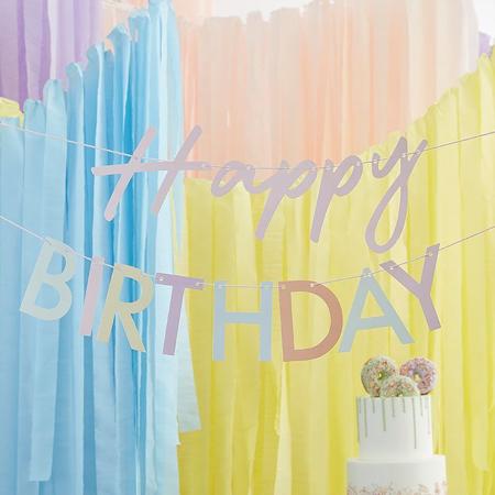 Ginger Ray® Viseči napis Mix It Up Happy Birthday Pastel