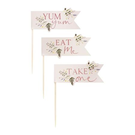 Ginger Ray® Okraski za slaščice Floral 12 kosov