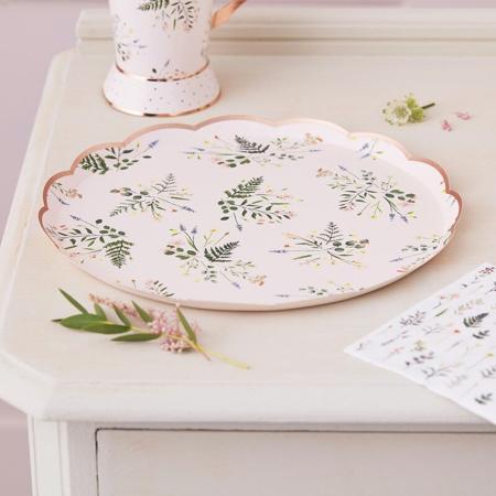 Slika Ginger Ray® Papirnati krožniki Floral 8 kosov