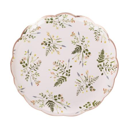 Ginger Ray® Papirnati krožniki Floral 8 kosov
