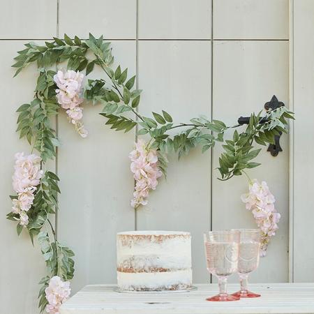 Slika Ginger Ray® Gerlanda Blush Pink & Green Floral