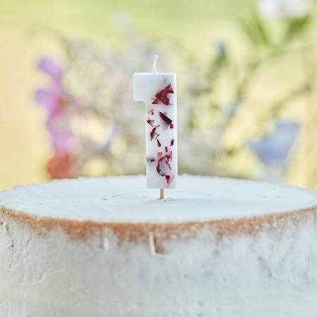 Slika Ginger Ray® Svečka Floral Številka 1