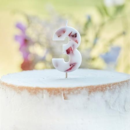 Slika Ginger Ray® Svečka Floral Številka 3