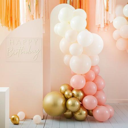 Slika Ginger Ray® Lok iz balonov Mix It Up Peach Gold
