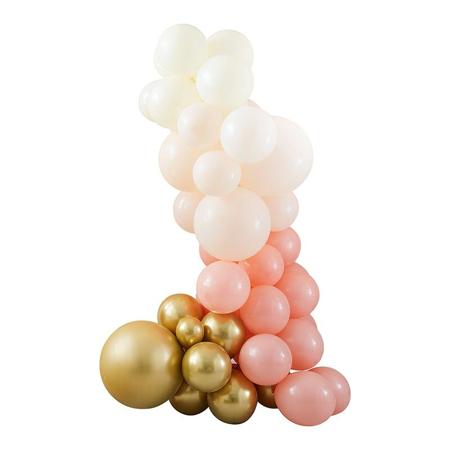 Ginger Ray® Lok iz balonov Mix It Up Peach Gold