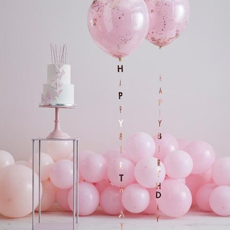 Ginger Ray® Trakovi z napisom za balone Mix It Up Rose Gold