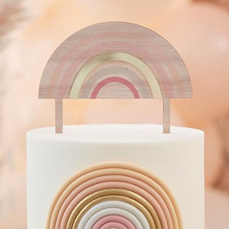 Slika Ginger Ray® Lesen okrasek  napis za torto Baby Happy Everything  Rainbow