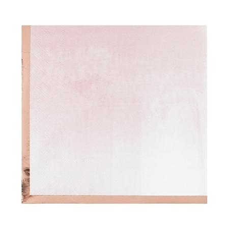Ginger Ray® Papirnate serviete Mix It Up  Glaye Rose Gold 16 kosov