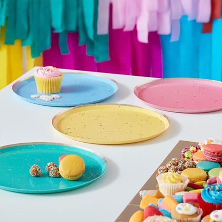 Slika Ginger Ray® Papirnati krožniki Mix It Up Flecked Rainbow 8 kosov