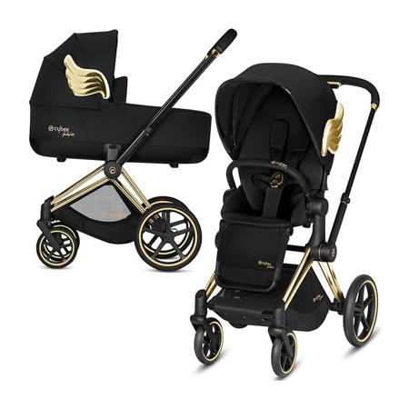 Slika Cybex® Otroški voziček s košaro 2v1 Priam JS RBAS Wings Black (0-22 kg)