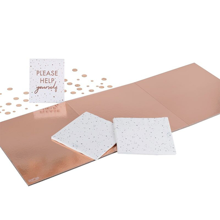 Ginger Ray® Pladenj Mix It Up Rose Gold