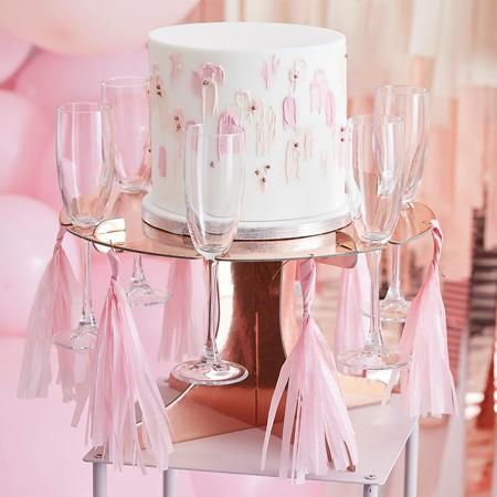 Slika Ginger Ray® Podstavek za torto in kozarce Rose Gold
