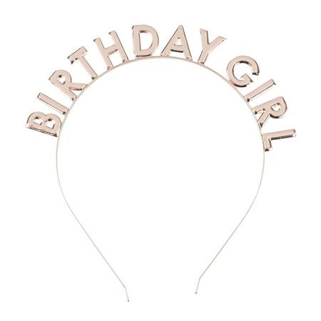Ginger Ray® Obroč za na glavo Birthday Girl Rose Gold
