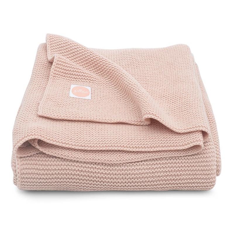Jollein® Pletena odejica Pale Pink 150x100