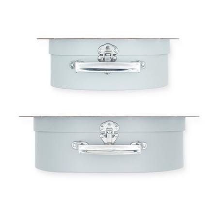 Jollein® Komplet dveh kovčkov Shell Grey