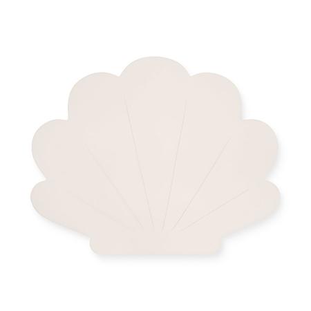 Slika Jollein® Stenska lučka Školjka Nougat