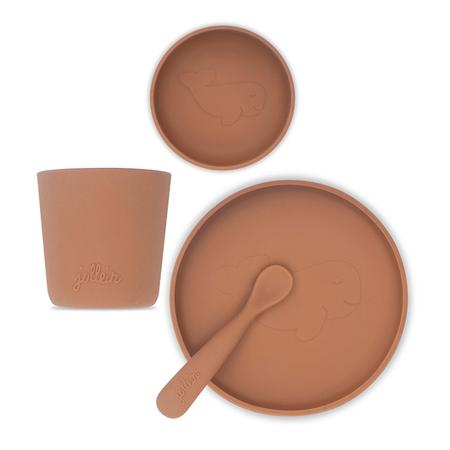 Jollein® Silikonski set za hranjenje Caramel
