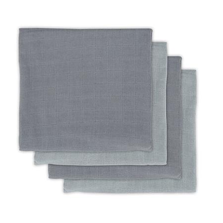 Jollein® Komplet 4 tetra pleničk Storm Grey 70x70