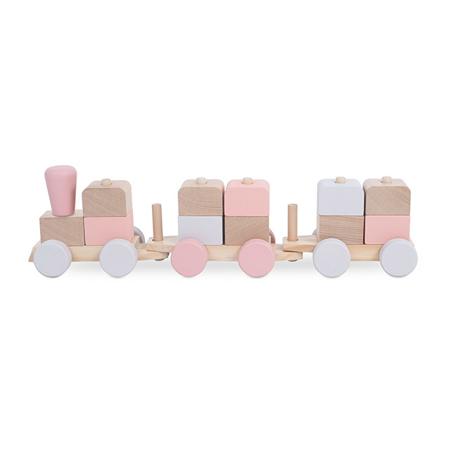 Jollein® Lesena igrača Vlakec Pink