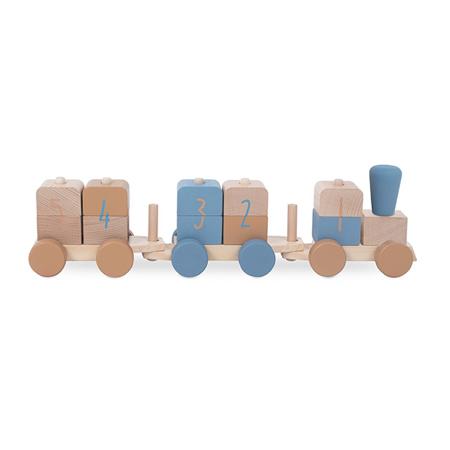 Slika Jollein® Lesena igrača Vlakec Blue
