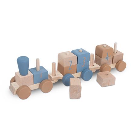 Jollein® Lesena igrača Vlakec Blue