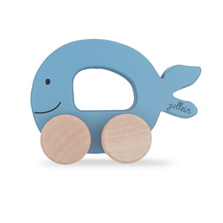 Slika Jollein® Lesena igrača Car Fish Blue