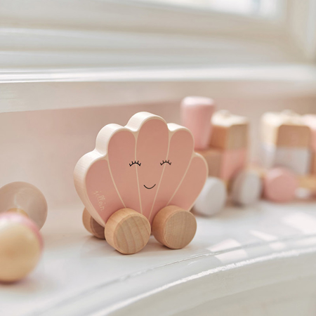 Jollein® Lesena igrača Car Shell Pink