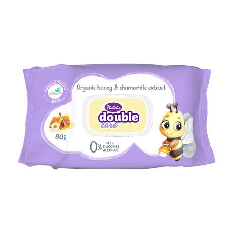 Violeta® Otroški vlažilni robčki z extraktom kamilice in dodatkom kreme 80/1