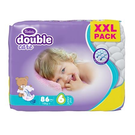 Slika Violeta® Plenice Air Dry XXL 6 Junior+ (16 kg+) 86/1