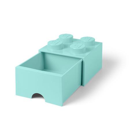 Slika Lego® Škatla za shranjevanje s predali 4 Aqua