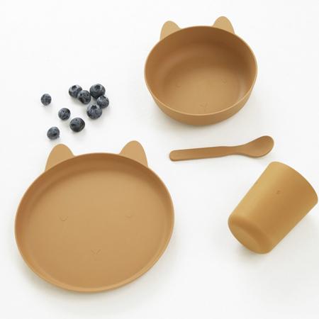 Liewood® Jedilni set Paul  Rabbit Mustard