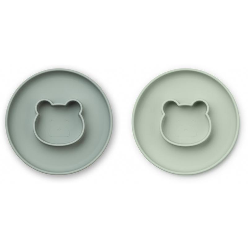 Liewood® Komplet silikonskih krožnikov Gordon Mr Bear Mint Mix