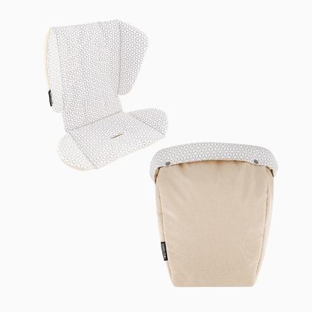 Twistshake® Podloga za voziček + zimska vreča za noge  Beige