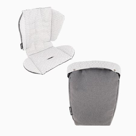 Slika Twistshake® Podloga za voziček + zimska vreča za noge  Grey