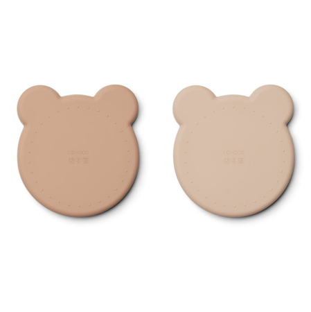 Liewood® Komplet 2 silikonskih krožnikov Marty - Mr Bear Rose Mix