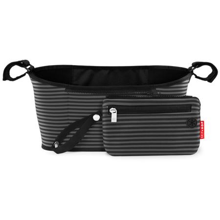 Skip Hop® Organizator za voziček Black & Grey Stripe