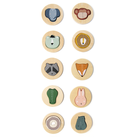 Slika Trixie Baby® Lesena sestavljanka z obrazi živali