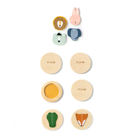 Trixie Baby® Lesena sestavljanka z obrazi živali