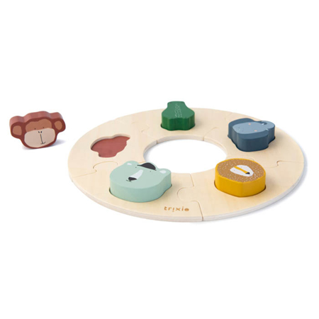 Trixie Baby® Lesene puzzle v krogu