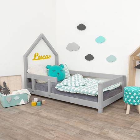 Slika Benlemi® Otroška postelja Poppi 200x90 Grey