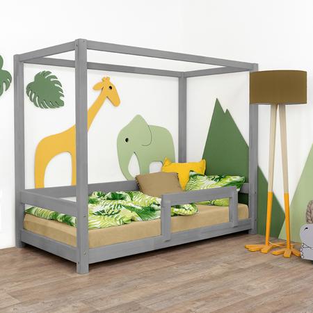 Slika Benlemi® Otroška postelja Bunky 200x90 Grey
