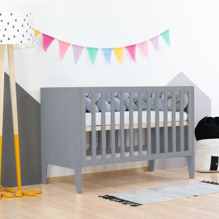 Slika Benlemi® Otroška posteljica Sleepy 120x60 Grey