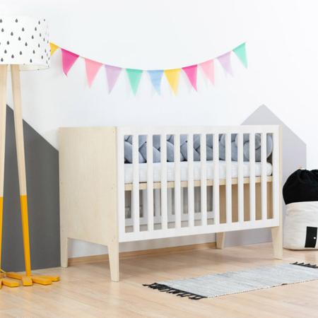 Slika Benlemi® Otroška posteljica Sleepy 120x60 Natural/White
