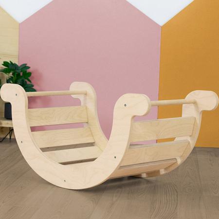 Slika Benlemi® Otroški gugalnik za ravnotežje Montessori Yupee Natural