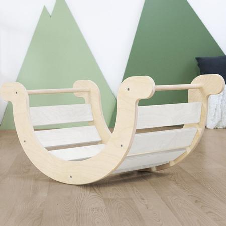 Slika Benlemi® Otroški gugalnik za ravnotežje Montessori Yupee White