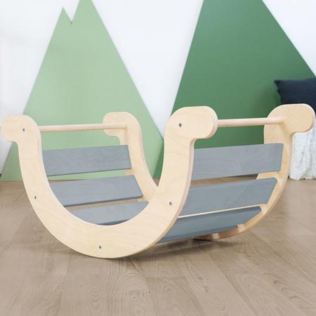 Slika Benlemi® Otroški gugalnik za ravnotežje Montessori Yupee Grey