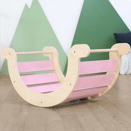 Slika Benlemi® Otroški gugalnik za ravnotežje Montessori Yupee Pink