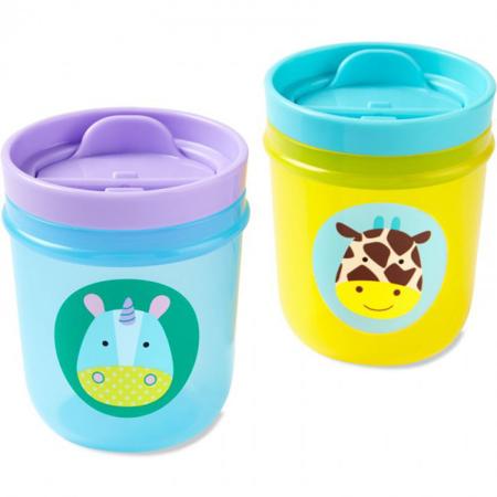 Skip Hop® Komplet dveh kozarčkov za pitje, Samorog/Žirafa