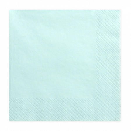 Party Deco® Troslojne Serviete Pale Turquoise 20 kos