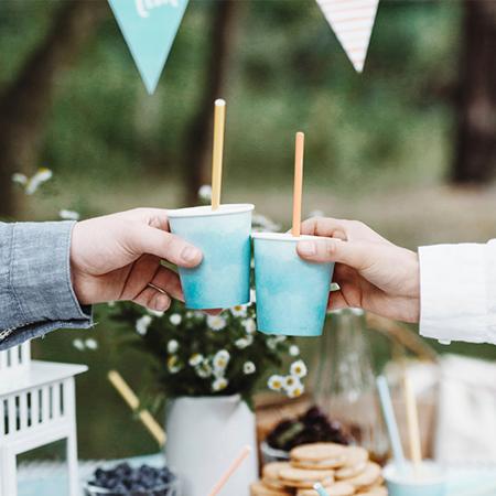 Party Deco® Papirnate Slamice  Summer Time 10 kos